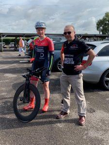 Isabella Johnson and Simon Daw at Goodwood Circuit